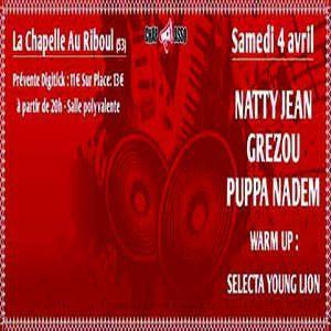 Reggae Night Avec Natty Jean, Grezou, Puppa Nadem Et Young Lion