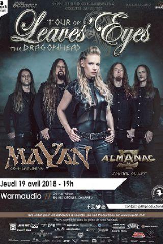 Concert LEAVES' EYES + MAYAN + ALMANAC