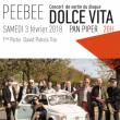"""Concert PEE BEE - """"Dolce Vita""""  à PARIS @ LE PAN PIPER - Billets & Places"""