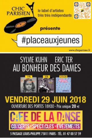 Concert #placeauxjeunes: Sylvie Kuhn, Eric Ter,  Au Bonheur des Dames à Paris @ Café de la Danse - Billets & Places