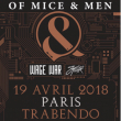 Concert OF MICE & MEN + GUESTS à Paris @ Le Trabendo - Billets & Places