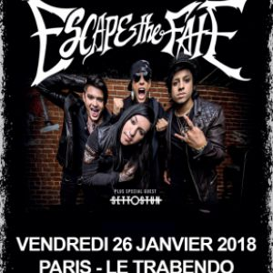ESCAPE THE FATE + SET TO STUN + GUEST @ Le Trabendo - Paris