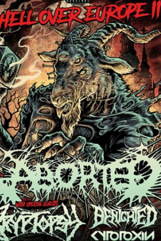 Concert ABORTED + BENIGHTED + CRYPTOPSY + CYTOXIN