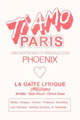 Billets PHOENIX - TI AMO PARIS avec Halo Maud et Coma_Cose - La Gaîté Lyrique