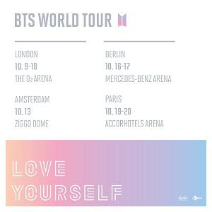 Billets BTS WORLD TOUR - ACCORHOTELS ARENA