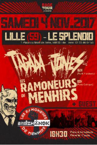 Concert TAGADA JONES + LES RAMONEURS DE MENHIRS à LILLE @ LE SPLENDID - Billets & Places