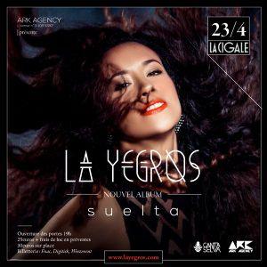 La Yegros A La Cigale - Sortie Nouvel Album