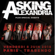 Concert ASKING ALEXANDRIA + GUESTS à Paris @ Le Trabendo - Billets & Places