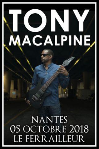 Concert TONY MACALPINE à Nantes @ Le Ferrailleur - Billets & Places