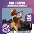 Concert BEN HARPER AND THE INNOCENT CRIMINALS