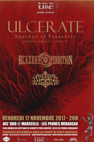 Concert ULCERATE + BLAZE OF PERDITION + OUTRE