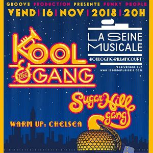 FUNK PEOPLE : KOOL & THE GANG / SUGARHILL GANG @ Grande Seine - La Seine Musicale - BOULOGNE BILLANCOURT