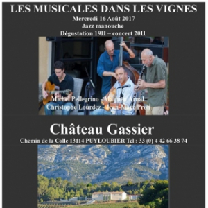 Billets JAZZ MANOUCHE - Château Gassier