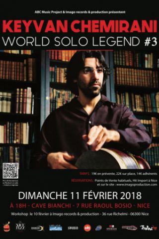 Concert World Solo Legend #3 : Keyvan Chemirani à NICE @ Cave Bianchi - Billets & Places