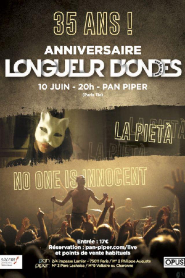 Concert NO ONE IS INNOCENT + LA PIETA à PARIS @ LE PAN PIPER - Billets & Places