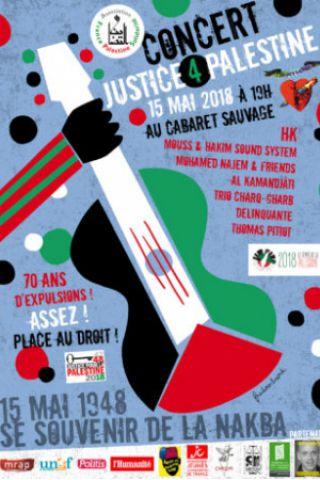 Concert Justice 4 Palestine à Paris @ Cabaret Sauvage - Billets & Places