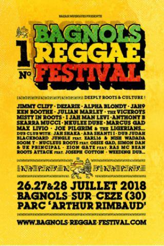 BAGNOLS REGGAE FESTIVAL - PASS JOUR 3 à BAGNOLS SUR CÈZE @ PARC ARTHUR RIMBAUD - Billets & Places