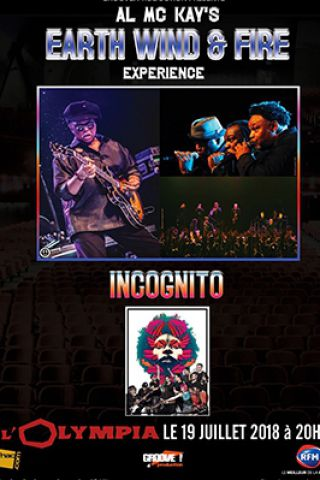 Billets Al McKay's Earth Wind and Fire Experience + INCOGNITO  - L'Olympia