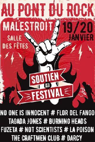 FESTIVAL SOUTIEN AU PONT DU ROCK - PASS 2 JOURS à Malestroit @ Salle des fêtes - Billets & Places
