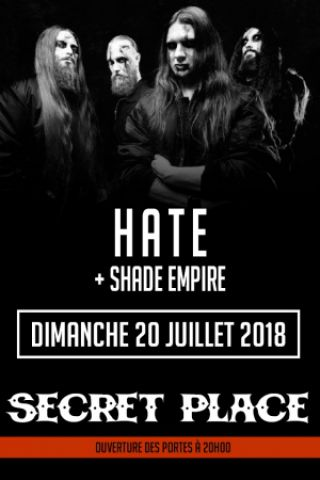 Concert Hate x Shade Empire x Nordjevel à Montpellier