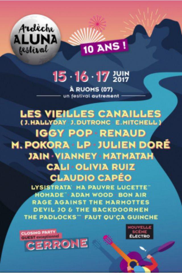 ARDECHE ALUNA FESTIVAL - RENAUD + JAIN + M.POKORA à RUOMS - Billets & Places