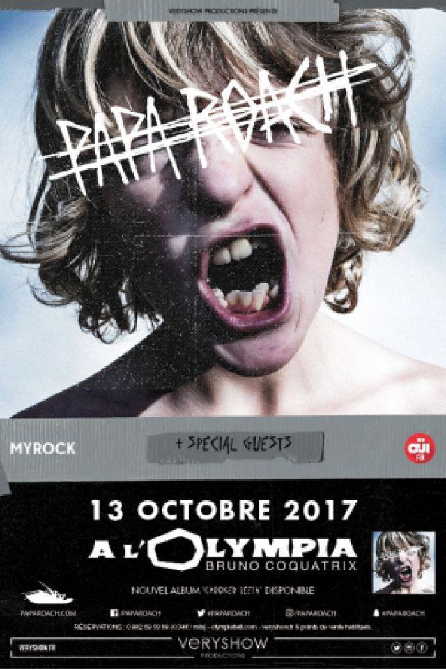 Concert PAPA ROACH  à Paris @ L'Olympia - Billets & Places