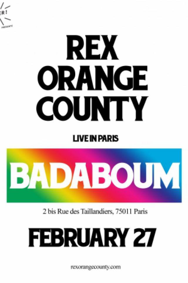 Rex Orange County @ Badaboum - PARIS