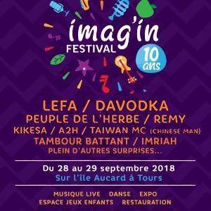 FESTIVAL IMAG'IN - PASS 2 J @ L'ile Aucard - TOURS