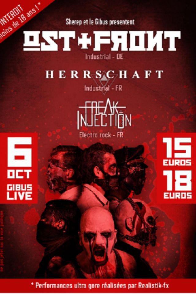 Ost front + Herrschaft + Freak injection @ Le Gibus  - PARIS