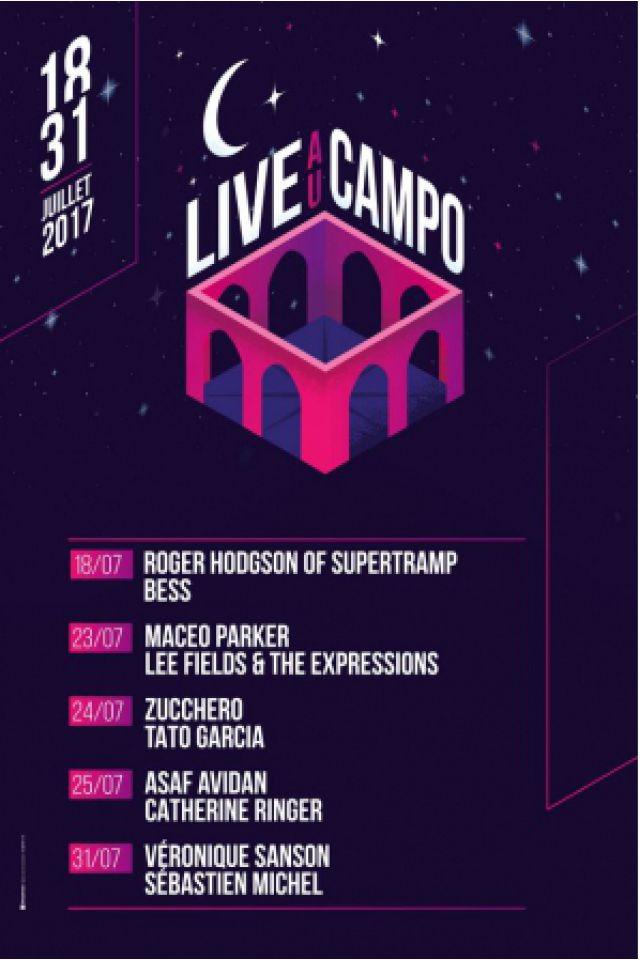 Billets LIVE AU CAMPO 2017- Zucchero + Tato Garcia - Campo Santo