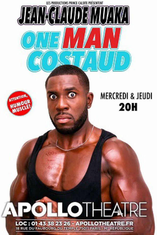 Jean-Claude Muaka dans One Man Costaud @ APOLLO THEATRE - PARIS