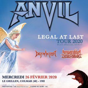 Anvil + Defraktor + Armageddon Death Squad Grillen Colmar