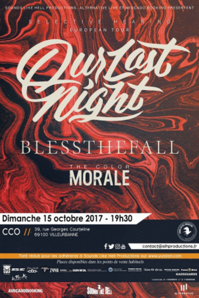 Concert OUR LAST NIGHT + BLESSTHEFALL + NEW VOLUME