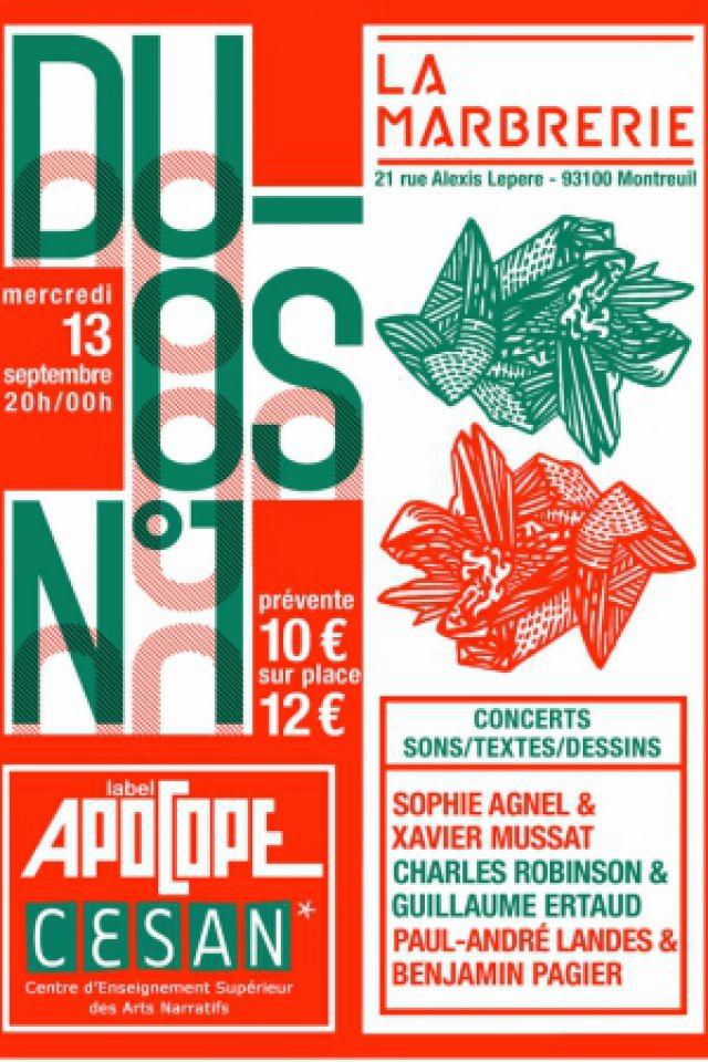 DUOS N°1- Label Apocope & Le CESAN @ La Marbrerie - MONTREUIL