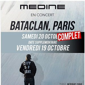 Concert MEDINE à PARIS @ LE BATACLAN - Billets & Places