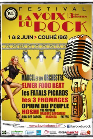 Festival LA VOIX DU ROCK - Marcel & son orchestre / Les 3 fromages / Opium à COUHÉ @ Abbaye de Valence - Billets & Places