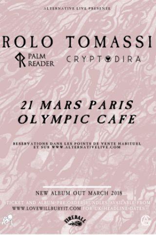 Concert ROLO TOMASSI + PALM READER + CRYPTODIRA