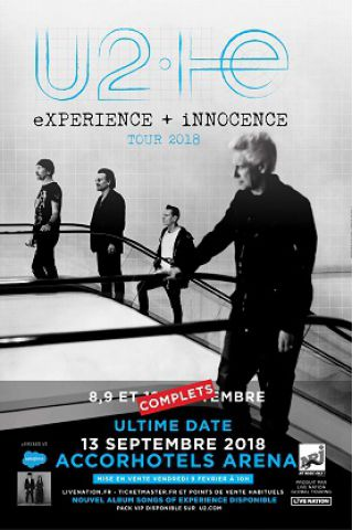 Concert U2 à PARIS @ ACCORHOTELS ARENA - Billets & Places