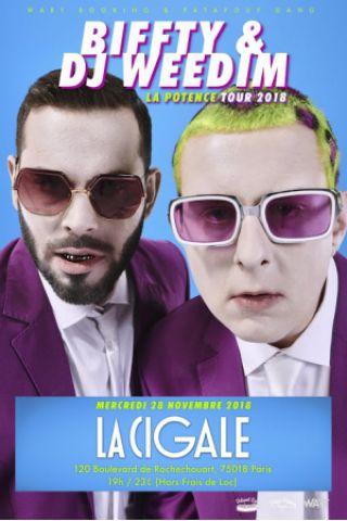 Concert Biffty & DJ Weedim à Paris @ La Cigale - Billets & Places