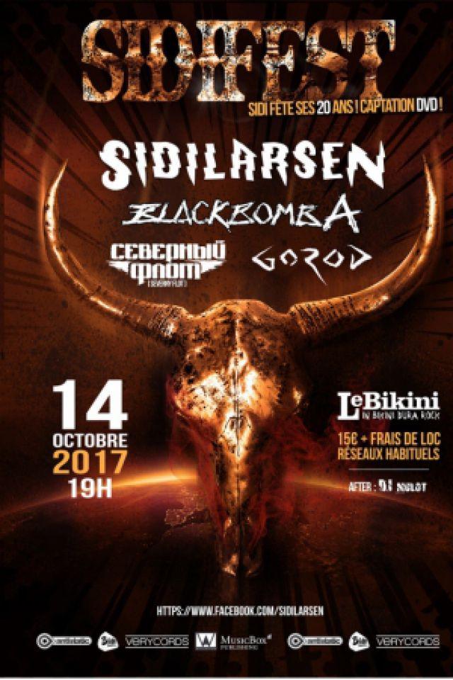 Concert SIDIFEST : Sidilarsen + Black Bomb A + Gorod + Severny Flot