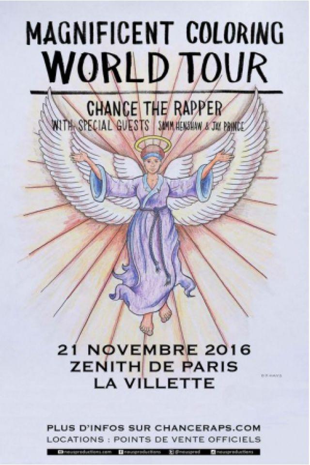 Concert CHANCE THE RAPPER à Paris @ Zénith Paris La Villette - Billets & Places
