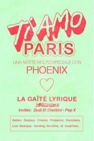 Billets PHOENIX - TI AMO PARIS avec Dodi El Sherbini et Pop X - La Gaîté Lyrique
