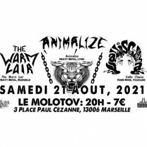 Animalize +The Warm Lair +Vallis Clausa (Heavy Metal / Hard Rock)