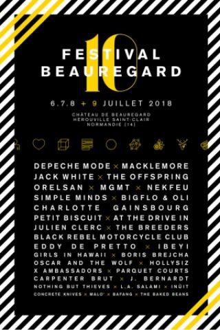 Festival Beauregard 2018 - PASS 4 JOURS à HÉROUVILLE SAINT CLAIR @ Chateau de Beauregard - Billets & Places