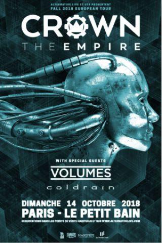 Concert CROWN THE EMPIRE + VOLUMES + COLDRAIN