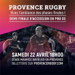 Carte 1/2 FINALE PROVENCE RUGBY / NEVERS à AIX EN PROVENCE @ Stade Maurice-David - Billets & Places