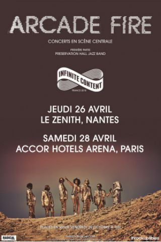 Billets ARCADE FIRE + Preservation Hall Jazz band - ACCORHOTELS ARENA