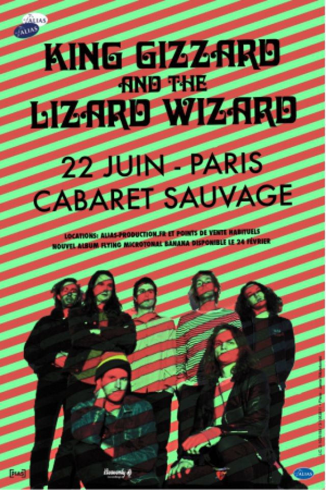 Concert KING GIZZARD & THE LIZARD WIZARD à Paris @ Cabaret Sauvage - Billets & Places