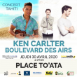 KEN CARLTER / BOULEVARD DES AIRS CONCERT A TAHITI à Papeete @ PLACE TO'ATA - Billets & Places