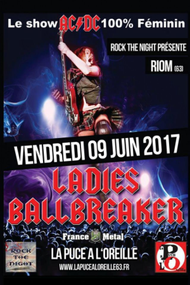Concert LADIES BALLBREAKER SHOW AC/DC 100% FEMININ